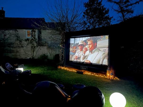 Big outdoor cinema screen hire
